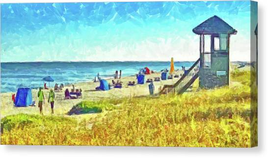 Canvas Print featuring the digital art The End Of Summer by Digital Photographic Arts