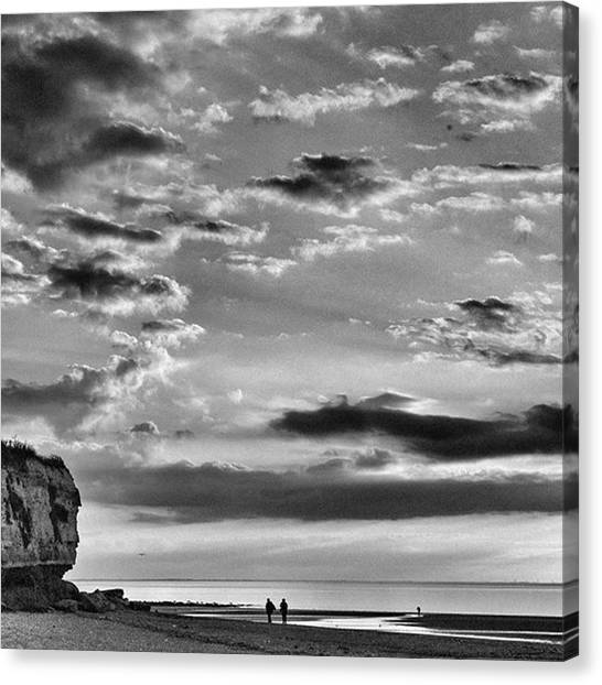 Sky Canvas Print - The End Of The Day, Old Hunstanton  by John Edwards