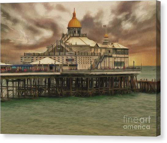 Canvas Print featuring the photograph The End Of The Pier Show by Leigh Kemp
