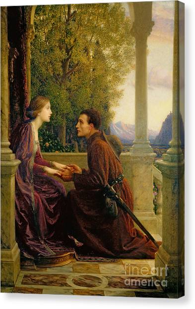 Pre-modern Art Canvas Print - The End Of The Quest by Sir Frank Dicksee