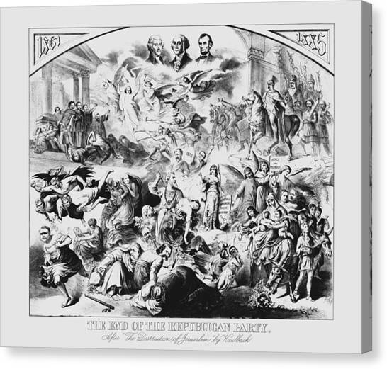 George Washington Canvas Print - The End Of The Republican Party by War Is Hell Store