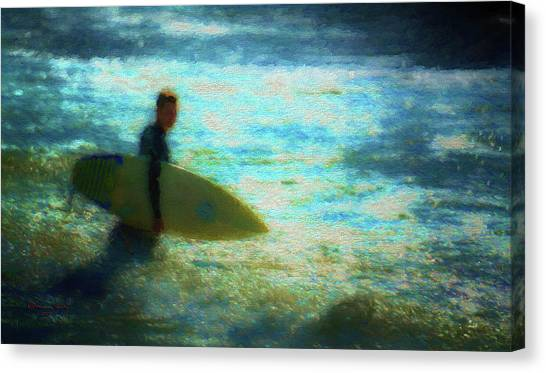 Surfboard Canvas Print - The Endless Summer by Marvin Spates