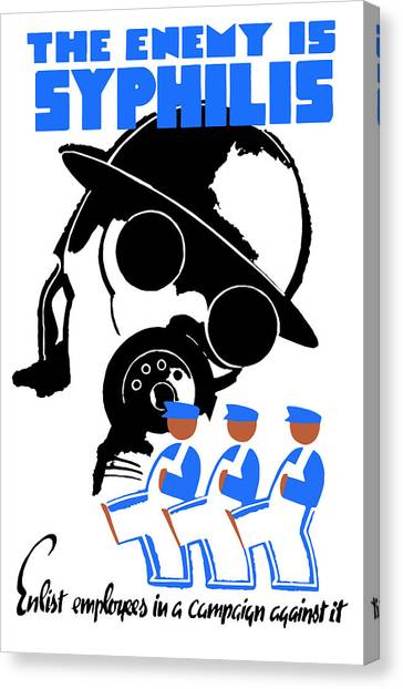 Health Care Canvas Print - The Enemy Is Syphilis by War Is Hell Store