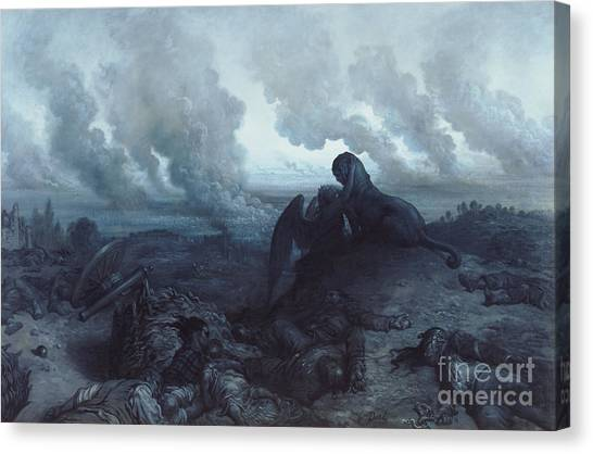 Sphinx Canvas Print - The Enigma by Gustave Dore