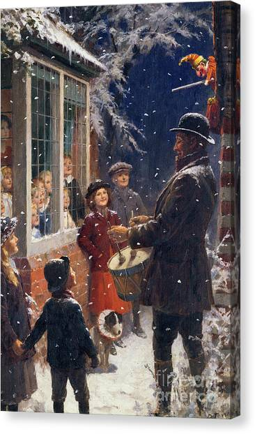 Percussion Instruments Canvas Print - The Entertainer  by Percy Tarrant