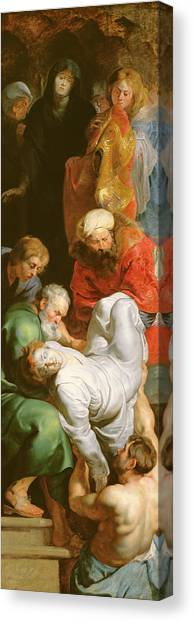 Buried Canvas Print - The Entombment Of St Stephen by Peter Paul Rubens