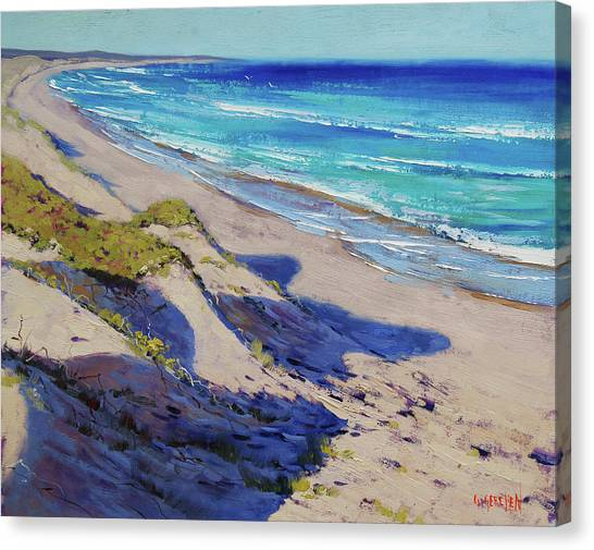 Beautiful Nature Canvas Print - The Entrance Beach Dunes, Australia by Graham Gercken