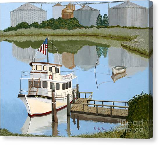 The Essence Of Tappahannock Canvas Print by Jennifer  Donald