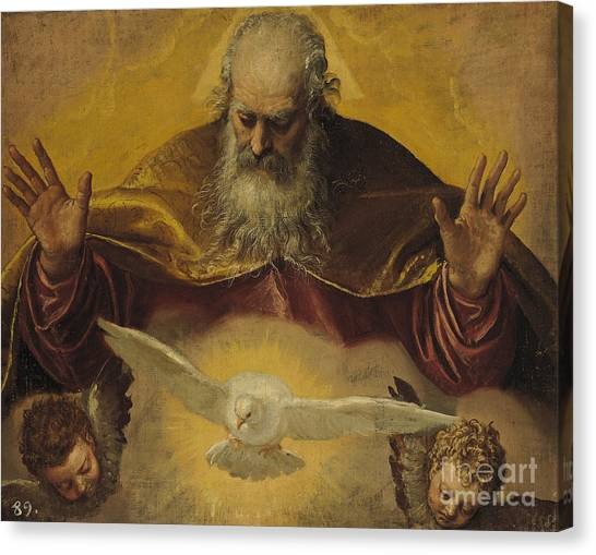 Old Testament Canvas Print - The Eternal Father by Paolo Caliari Veronese