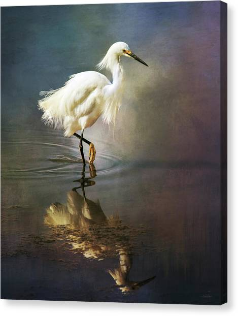 The Ethereal Egret Canvas Print
