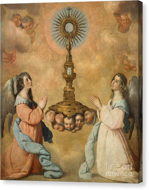 Communion Canvas Print - The Eucharist by Francisco de Zurbaran