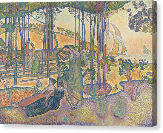 Divisionism Canvas Print - The Evening Air by Henri-Edmond Cross
