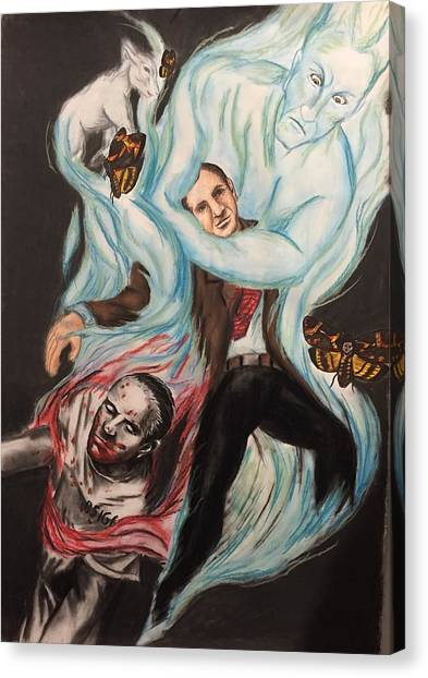 Silence Of The Lambs Canvas Print - The Evil We Do by Taylor Bielecki