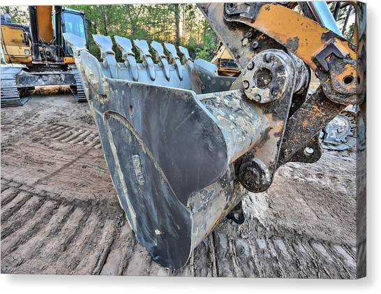 The Excavator  Canvas Print by JC Findley