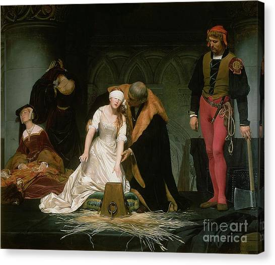Priests Canvas Print - The Execution Of Lady Jane Grey by Hippolyte Delaroche