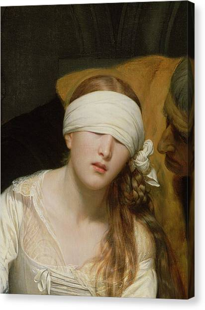 Tower Of London Canvas Print - The Execution Of Lady Jane Grey by Hippolyte Delaroche