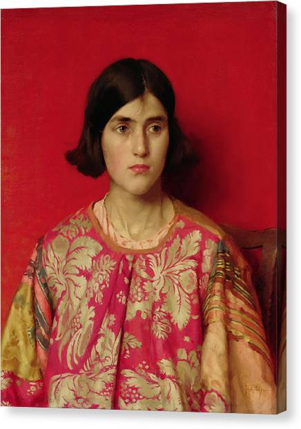 Worried Canvas Print - The Exile - Heavy Is The Price I Paid For Love by Thomas Cooper Gotch
