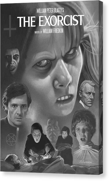 The Exorcist Canvas Print - The Exorcist 1974 by David Robinson