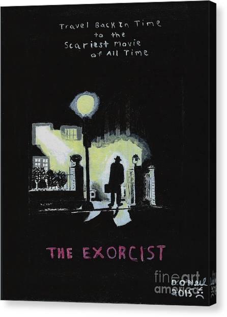 The Exorcist Canvas Print - The Exorcist,a Tribute by Dennis ONeil
