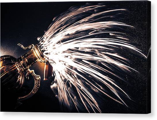 The Exploding Growler Canvas Print