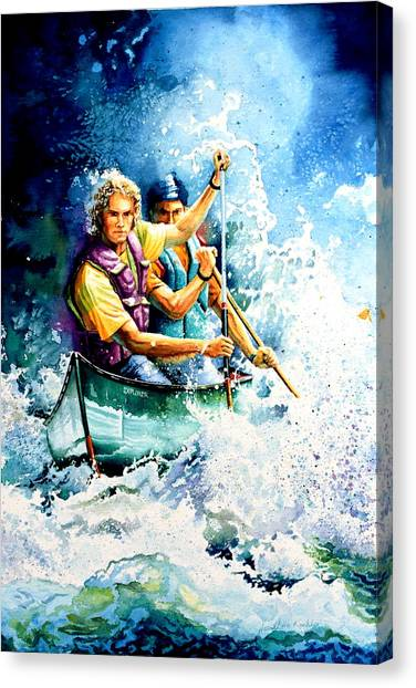 Water Sports Art Canvas Print - The Explorers by Hanne Lore Koehler