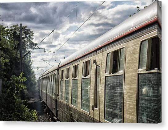 Steam Trains Canvas Print - The Express by Martin Newman