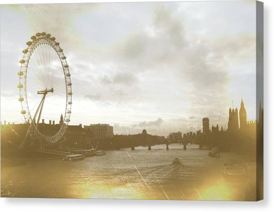 The Eye Of London Art Canvas Print by JAMART Photography