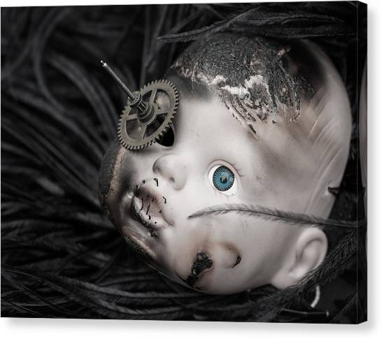 Steampunk Canvas Print - The Eye Of The Beholder by Chris Johnson-Standley