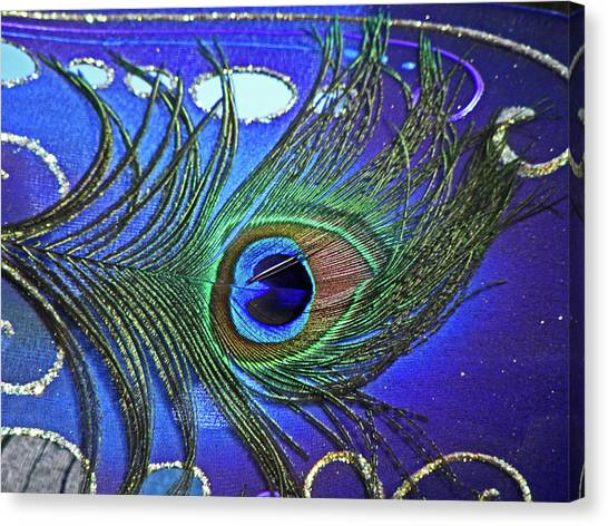 The Eye Of The Peacock Canvas Print