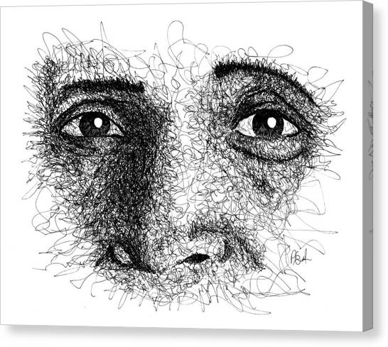 The Eyes Of Ramana Canvas Print