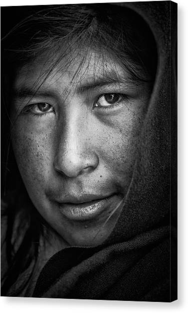 Peruvian Canvas Print - The Eyes by Stefan Nielsen