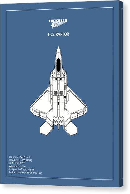 Airplane blueprint canvas prints page 5 of 19 fine art america airplane blueprint canvas print the f 22 raptor by mark rogan malvernweather Images