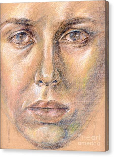 The Face In The Miror Canvas Print