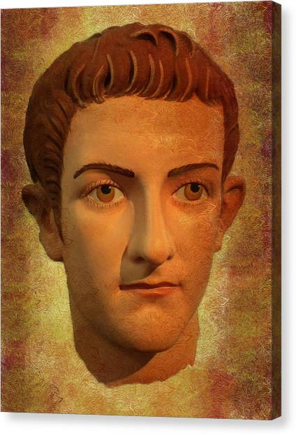 The Face Of Caligula Canvas Print