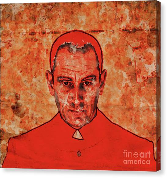 Atheism Canvas Print - The Face Of Mother Church By Mary Bassett by Mary Bassett