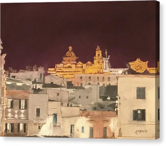 The Face Of Ostuni, Puglia Italy Canvas Print
