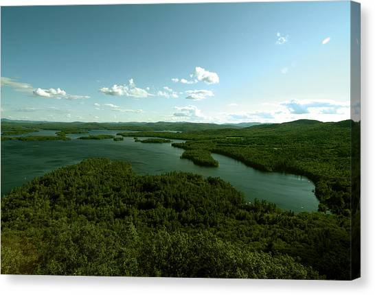 The Face Of Squam Canvas Print
