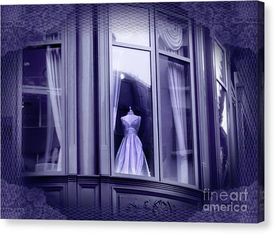 Bridal Canvas Print - The Fading Scent Of Lavender by Laura Iverson
