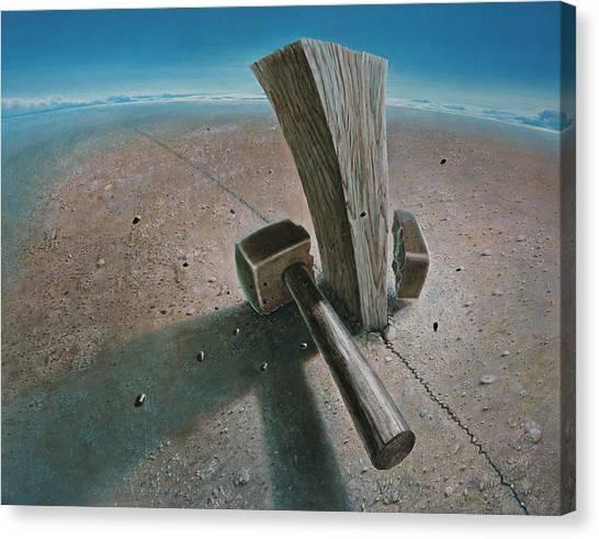 Hammers Canvas Print - The Failure by De Es Schwertberger