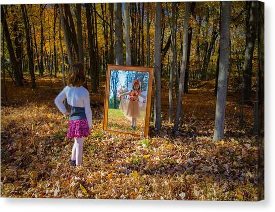 The Fairy In The Mirror Canvas Print