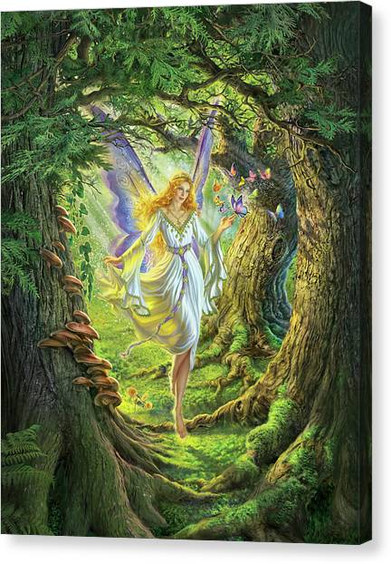 Fairy Canvas Print - The Fairy Queen by Mark Fredrickson