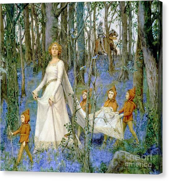 Elf Canvas Print - The Fairy Wood by Henry Meynell Rheam