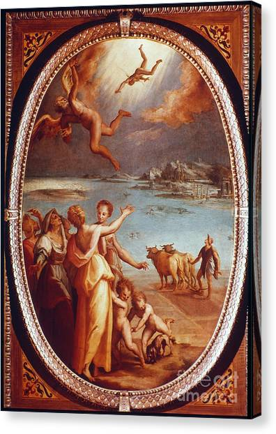 Aod Canvas Print - The Fall Of Icarus by Granger