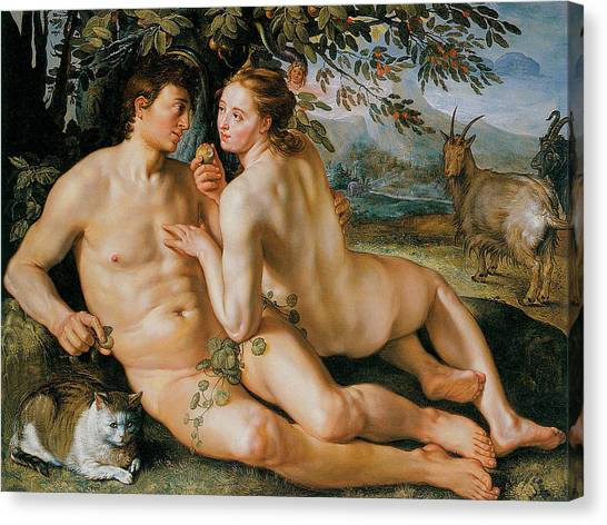 The Fall Of Man Canvas Print by Hendrik Goldzius