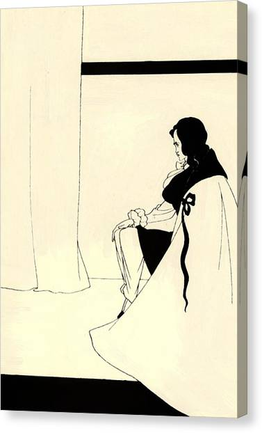 Fall Of The House Of Usher Canvas Print - The Fall Of The House Of Usher by Beardsley Aubrey