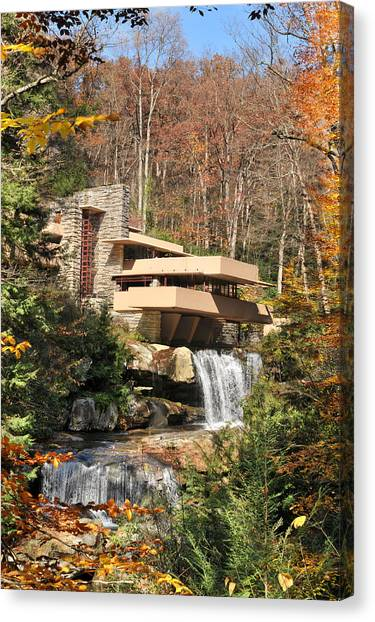 Home Runs Canvas Print - The Fallingwater by Edwin Verin