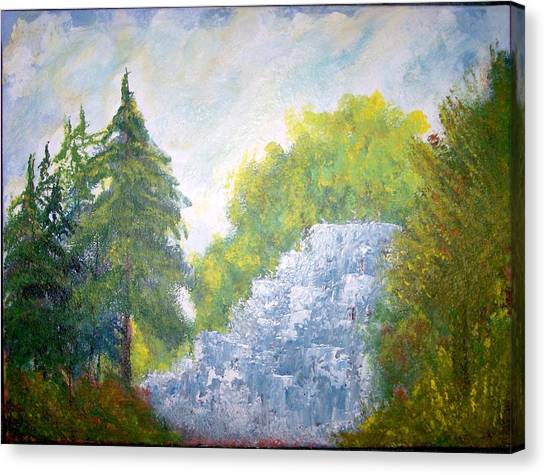 The Falls Canvas Print by Eugene Coderre