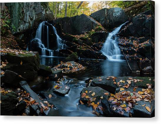 The Falls Of Black Creek In Autumn IIi Canvas Print