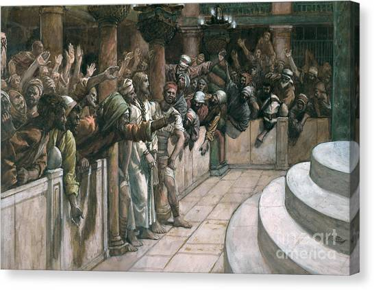 Holy Land Canvas Print - The False Witness by Tissot