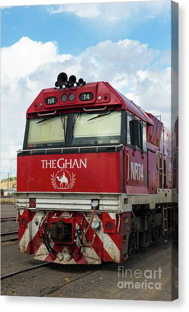 The Famed Ghan Train  Canvas Print